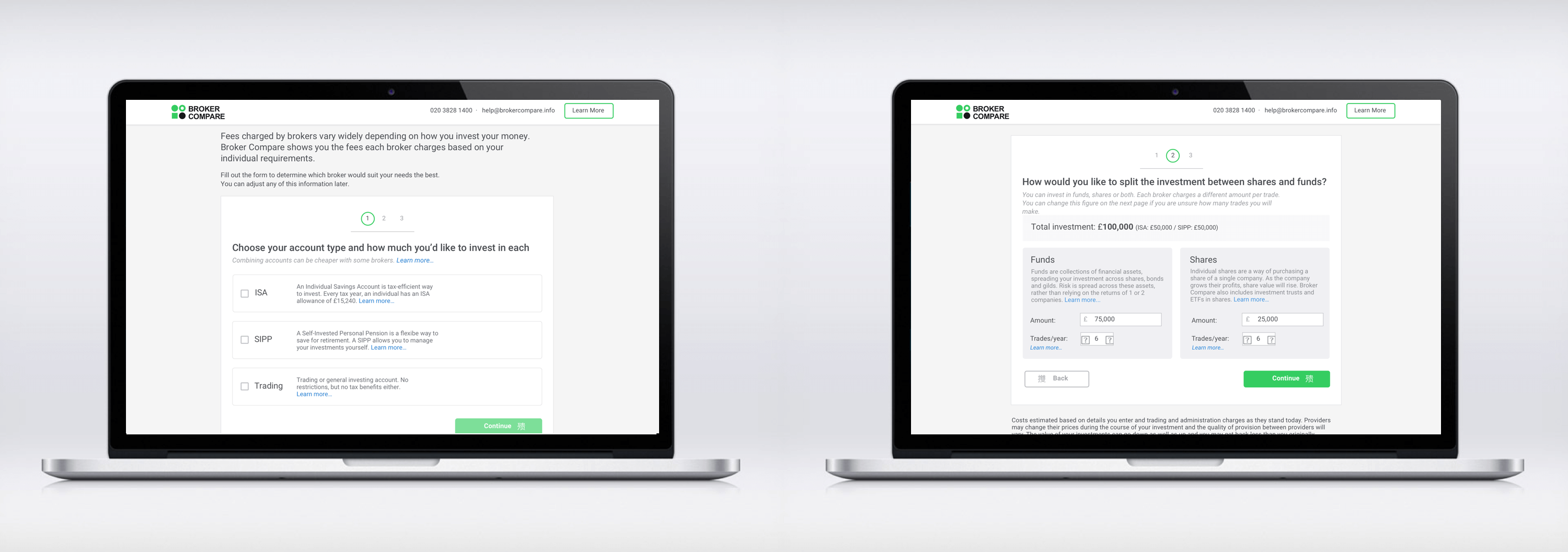 Broker Compare - Final Wireframes A