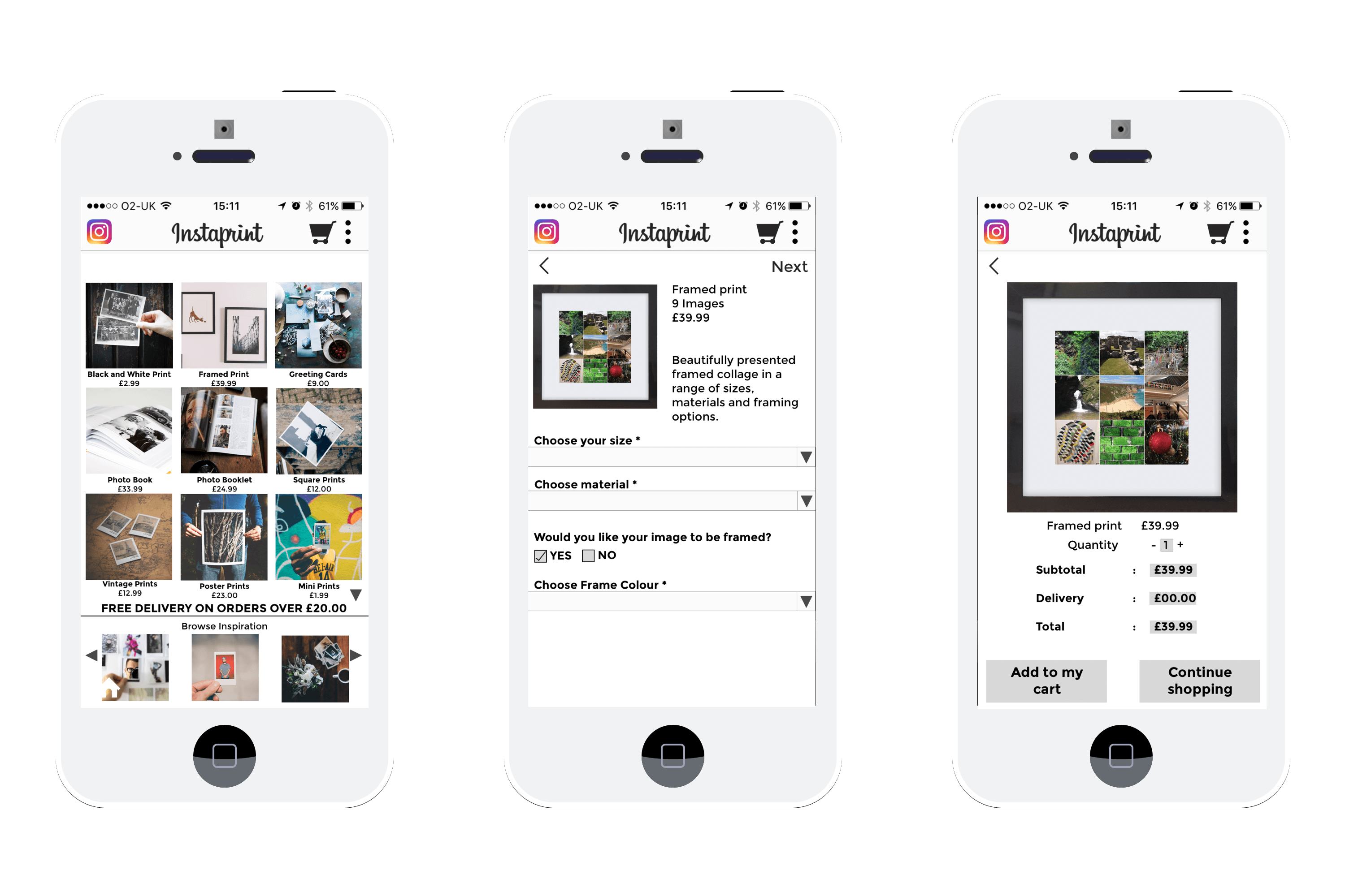 Instagram - Final Key Wireframes